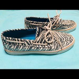 Sequins zebra print Sperry's sneakers